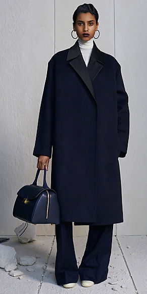 celine-black-hoop-earrings-black-overcoat